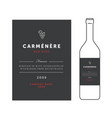 red wine labels premium template set vector image vector image