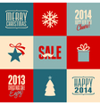 retro design christmas cards set vector image vector image