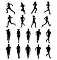 runners vector image vector image