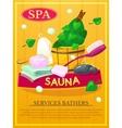 Sauna poster vector image