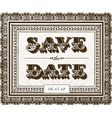 Save the Date invite vector image vector image