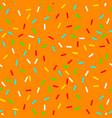 seamless background with orange donut glaze vector image vector image