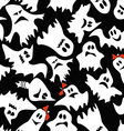 seamless pattern white ghosts vector image vector image
