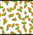 seamless pattern with hand drawn green and orange vector image vector image
