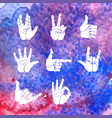 set hand gesture vector image