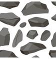 set stones pattern vector image