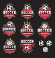 soccer logos and insignias 2 vector image