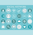 social network profiles icons vector image vector image