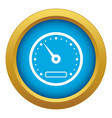 speedometer icon blue isolated vector image vector image