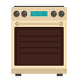 stove oven icon flat style vector image vector image