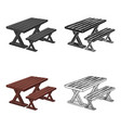 table for restbbq single icon in cartoon style vector image vector image
