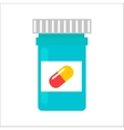 Tablet pills tube vector image vector image