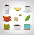 tea and coffee time vector image vector image