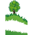 Tree with grass vector image vector image