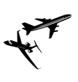 two passenger aircraft vector image