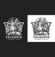 viking vintage monochrome print vector image vector image