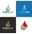 water or oil drop icon and logo vector image vector image