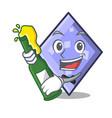with beer rhombus mascot cartoon style vector image