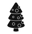 xmas fir tree icon simple style vector image vector image