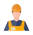 Engineer foreman worker together silhouette people vector image