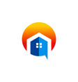 house abstract building logo vector image
