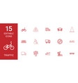 15 traffic icons vector image vector image