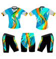 abstract colors cycling vest vector image vector image
