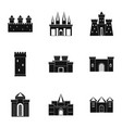 ancient castles icon set simple style vector image vector image