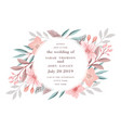 beautiful drawing wreath invitation card vector image vector image