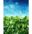 Blue and green background with circle pattern vector image vector image