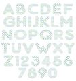 blue green alphabet vector image vector image