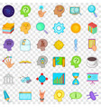 brainstorm icons set cartoon style vector image vector image