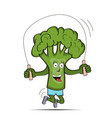 broccoli cabbage is engaged in sports vector image