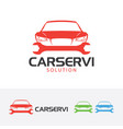 car service logo design vector image