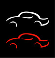 Car with abstract lines logo design concept vector image vector image