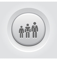 Career Growth Icon Grey Button Design vector image vector image