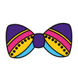 carnival bowtie decoration vector image