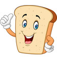 cartoon happy sliced bread giving thumb up vector image
