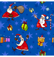 christmas cartoon seamless pattern decor vector image vector image