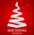 Christmas tree made of folded paper origami 14 vector image vector image