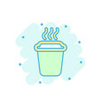 coffee tea cup icon in comic style coffee mug vector image