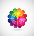 colorful wheel palette icon vector image vector image
