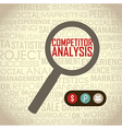 competitor analysis with magnifying glass vector image vector image