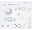 Controls Web Elements Buttons Switchers Player vector image vector image