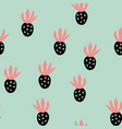 creative trendy seamless pattern with fruits vector image vector image