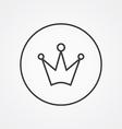 Crown outline symbol dark on white background logo vector image