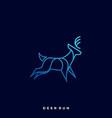 deer run template vector image