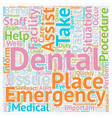 Dental Assistant Emergency Care 1 text background vector image vector image
