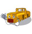 doctor miniature locomotive mine in cartoon shape vector image