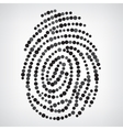 Dotted Finger Print vector image vector image